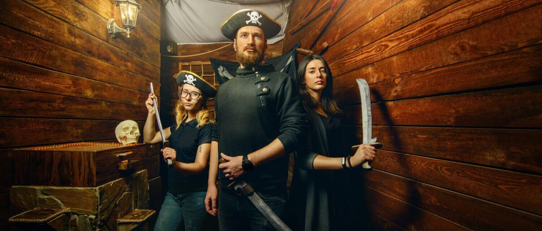3 Фото квест кімнати Пірати Карибського Моря в місті Львів
